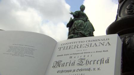 Ein Foto von der Statute Maria Theresias in Wien