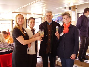 Eröffnung in Altmünster mit Birgit Reja, Gertrude Piontek, Bürgermeister Hannes Schobesberger, Johanna Ullmann