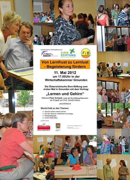"""Fotocollage der Veranstaltung """"Von Lernfrust zu Lernlust"""""""