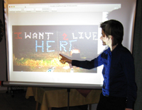 Marty Huber bei der Präsentation