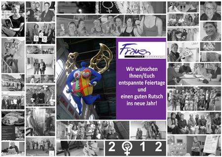 Weihnachtsgrüße aus dem Frauenforum - Fotocollage Rückblick 2012