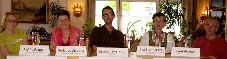 Riki Mühlegger, Sepp u. Gertrude Piontek, Eva Sagmeister und Stefan Haslinger am Podium.